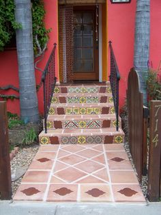 Mexican Floor and Decorative Tile In the Main Door Entrance