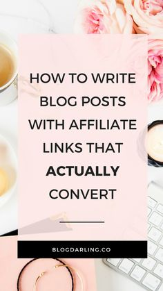 Want to make money with affiliate marketing? One of the best ways to do it is by writing blog posts that contain affiliate links... But how do you actually get people to CLICK your links and make a purchase? Here are my top tips for writing affiliate blog posts that actually CONVERT! #affiliatemarketing