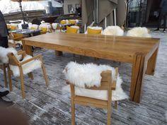 superbe table de montagne de luxe , rustique en  chêne massif de salle à manger , bar restaurant Bar Restaurant, Dining Bench, Tables, Furniture, Home Decor, Solid Oak, Solid Wood, Mountain, Rustic Luxe