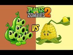 Plants vs Zombies 2 Pea Pod Vs Kernel pult