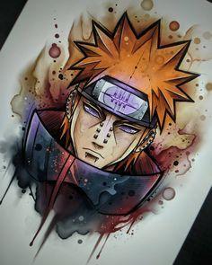 art pain do anime Naruto Anime Naruto, Naruto Shippuden Sasuke, Itachi Uchiha, Manga Anime, Anime Hair, Boruto, Gaara, Naruto Drawings, Naruto Sketch