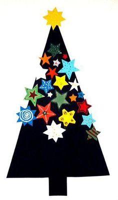 Weihnachten/basteln-Weihnachten-Baum-Sterne-2