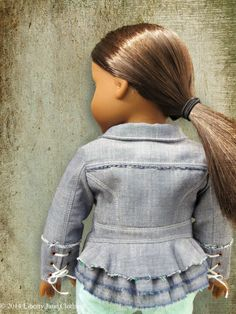 Liberty Jane Boomerit Falls Jacket Doll Clothes Pattern 18 inch American Girl Dolls | Pixie Faire