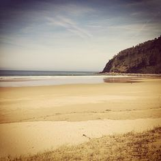 In spring we usually have the entire beach of Rodiles just for ourselves. A very common experience here in Asturias, Spain :)