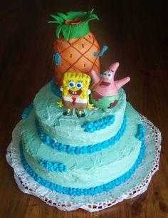 Tarta Arcoíris de Bob Esponja // Spongebob rainbow cake.