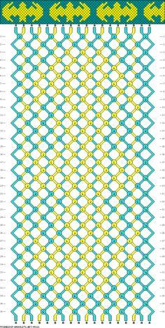 Batman Friendship Bracelet Pattern