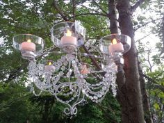 Picture of LED Chandelier - Dollar Store Chic!  http://www.instructables.com/id/LED-Chandelier-Dollar-Store-Chic/