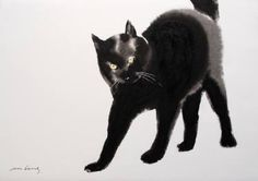 "Saatchi Art Artist Soo Beng Lim; Drawing, ""Akil Cat"" #art"