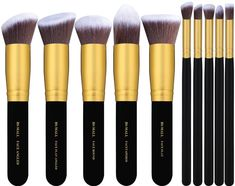 """Promising review: """"I'm blown away by how amazing these brushes are. They make your foundation look so much smoother. I'm obsessed!"""" —Christina Get this 10-piece set from Amazon for $8.99."""