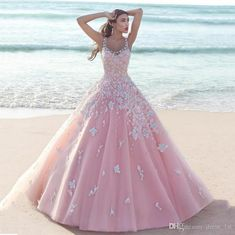 Fabulous 2016 Blush Pink Tulle Wedding Dresses Summer Beach Scoop Lace Applique Long Sweet 16 Quinceanera Dress Custom Made China En70513 Short Wedding Gowns Simple Lace Wedding Dresses From Dress_1st, $243.52| Dhgate.Com
