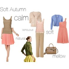 Soft Autumn - an excercise by fargeporten on Polyvore featuring мода, J.Crew, Fat Face, CC, Donna Karan, Anne Klein, L.K.Bennett, Mulberry and sci/art - soft autumn