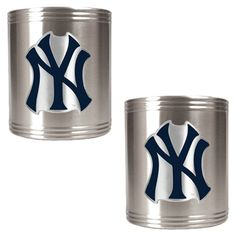 MLB Stainless Steel Can Holder Set (Set of 2)  by Great American Products