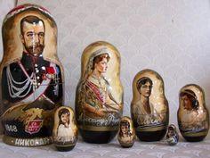 Matryoshka dolls of the Romanov family