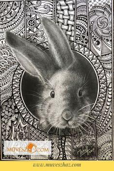 Cuki állatok - Így készíts Te is cuki állatos rajzokat! Kattints! Techno, Rabbit, Mandala, Animals, Bunny, Rabbits, Animales, Animaux, Bunnies