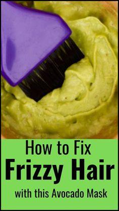 How to fix frizzy, dry and damaged hair with avocado hair mask Bleach Damaged Hair, Hair Mask For Damaged Hair, Diy Hair Mask, Damaged Hair Repair, Frizzy Hair, Dry Hair, Diy Mask, Easy Party Hairstyles, Bun Hairstyles For Long Hair