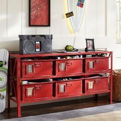 Pottery Barn Industrial Metal Rockwell 6-Drawer Bookcase | PBteen
