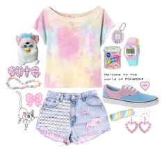 """Cute"" by princess-scrump ❤ liked on Polyvore featuring Vans, Pink Vanilla, Timex and Aiko"