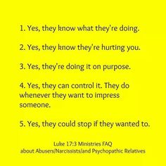 The Narcissist knows what he/she is doing!