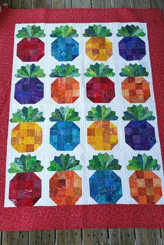 90's Batik Pineapple Quilt Pineapples Quilt Throw Quilt