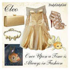 """Disney Style: Cleo"" by trulygirlygirl ❤ liked on Polyvore featuring Disney, Alexander McQueen, Swarovski, Christian Louboutin, disney, cleo and pinnochio"