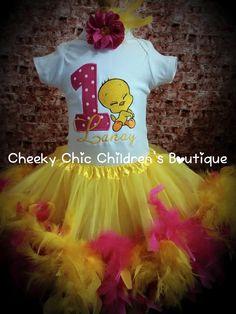 Tweety Bird 1st Birthday outfit :)