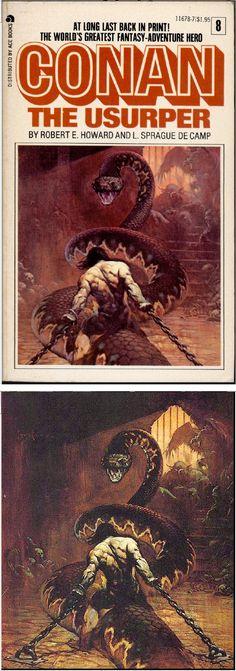 FRANK FRAZETTA - Conan the Usurper - L. Sprague de Camp , Robert E. Howard - 1967 Lancer Books - cover by isfdb - print by frankfrazetta.net