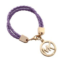 Michael Kors Braided Logo Purple Accessories Outlet