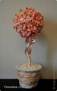 fabric flower topiary的圖片搜尋結果