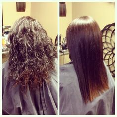 Before and after photo images of keratin treatments offered by Beauty Pro Distributor to salon and licensed hair stylists.