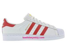 Chaussures Femme Adidas Originals Superstar Prix Pas Cher White Scarlet B27139