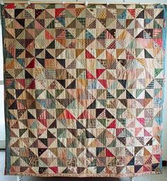 dutch quilt cat: antique quilt