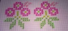 Tunisian Crochet, Filet Crochet, Cross Stitch Borders, Cross Stitch Patterns, Cross Stitch Embroidery, Hand Embroidery, Cute Stitch, Tapestry Crochet, Christmas Cross