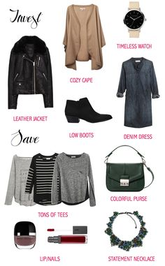 Key items to invest in and save money on this fall