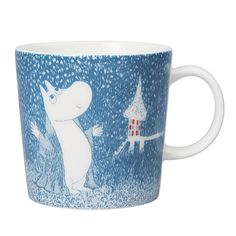Arabia Mug 2018 Winter Light Snowfall Moomin 6411801005004 IMPORT Goods for sale online Les Moomins, Moomin Mugs, Tove Jansson, Winter Light, Troll, Tableware, Ebay, 2018 Year, Songs