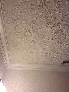 Topkapi Palace 1 6 Ft X Foam Glue Up Ceiling Tile In Plain White 21 Sq Case Satin Pinterest And Products