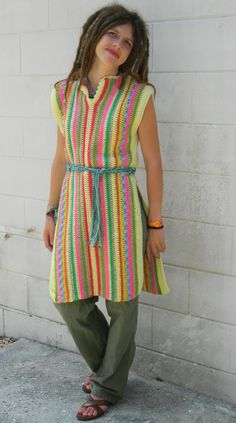 SOLD!  Hand Crocheted Hippie Dress or Tunic