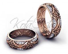 Элитные обручальные кольца из красного золота с бриллиантами KO-OKB232G 5553e609b7d
