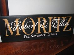 Last Name Sign Personalized Sign Family Name by ItsASignAndDesigns, $36.00