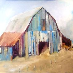 Art Public auctions: Early American Art – Buy Abstract Art Right Buy Abstract Painting, Art Painting, Fine Art, Farm Art, Painting, Abstract, Barn Art, Barn Painting, Watercolor Barns