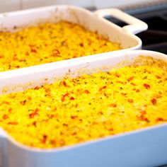 Fresh Corn Casserole with Red Bell Peppers and Jalapeños