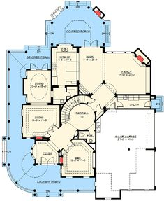 The plan when I have lots of money and a house keeper or three. Luxury House Plans, Dream House Plans, House Floor Plans, My Dream Home, Luxury Floor Plans, Dream Big, Victorian House Plans, Craftsman House Plans, Victorian Homes