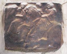"Enrique Medina  ""Guerreros""  Acrílico sobre tela 39 x 49 cm.  http://www.portondesanpedro.com/ver-producto.php?id=11627"