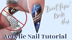 Burnt paper nails without actually burning paper! In this tutorial, I already filed down her set and started on a clear acrylic base. Products used: Pinke. Clear Acrylic, Acrylic Nails, Burnt Paper, Nail Tutorials, Stiletto Nails, Nail Art Designs, Class Ring, Burns, Nail Products
