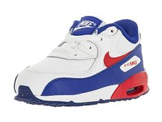 info for a2efa 6ec3b Nike Toddlers Air Max 90 Ltr (TD) White Unversity Red Rcr Blue