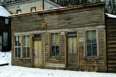 Hx of the American West, BYU, Idaho -  Abandoned building