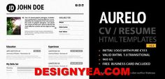Download the best HTML5 resume CV templates