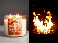 J'ADORE  les chandelle de Bath and Body Works , un must! autumn and punpkin scents are mmmmmmm
