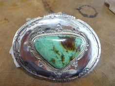 Large Cerrillos Turquoise Buckle by Unknown Artists