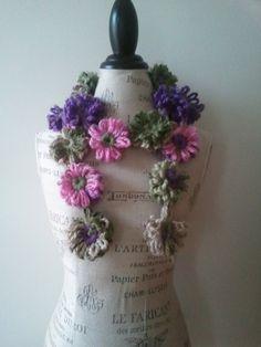 loom flower scarf