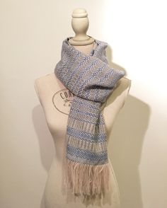 Handwoven Scarves | Marianna Nello Textile Design | 2017 Winter Collection | Handmade  Instagram: @Marianna.nello Etsy shop: https://www.etsy.com/shop/MariannaNelloTextile   Entirely handmade, handwoven scarf made with an 8-shaft table loom.  Technique used: free weaving (combining twill, plain weave, hopsack) Colors: Gray, Light Blue, Pink  #handwoven #scarf #handwovenscarf #handmade #womenswear #accessories  #woven #textiles  #artisanal #textiledesign #textile #tessuto #tessitura #tessile